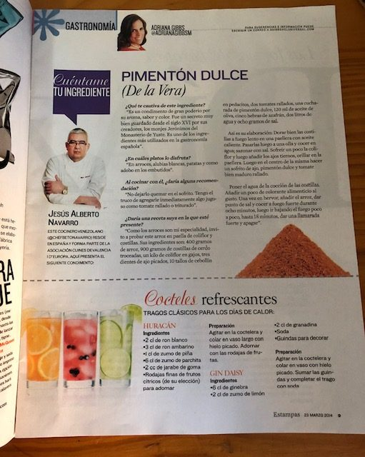 Entrevista en Revista Estampas